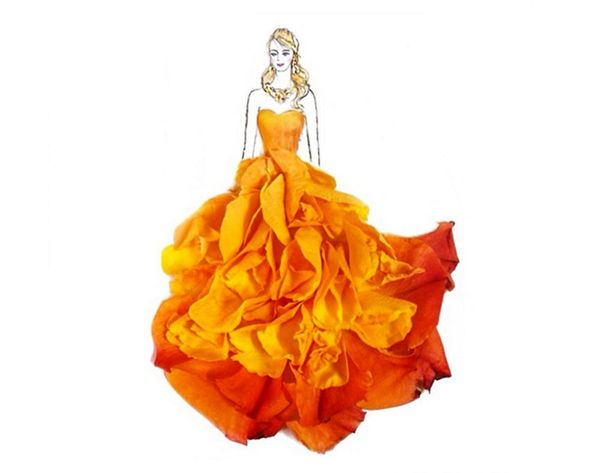 Whoa. These Dresses Are Made Completely of Flowers (+ Veggies!)