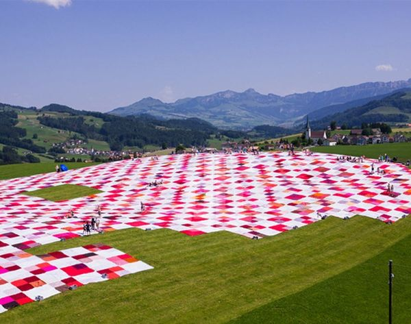 The Hills Are Alive… With the World's Largest Picnic Blanket?!