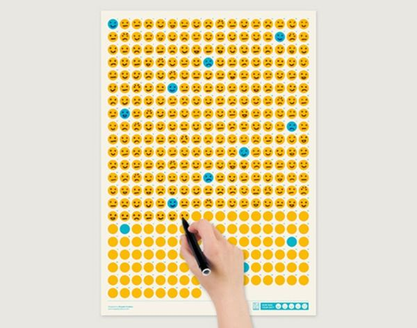 Track Your Mood Every Day for a Year With This Emoji Calendar