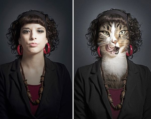 We Can't Tell if These Cat Portraits Are Creepy or Awesome (or Both)