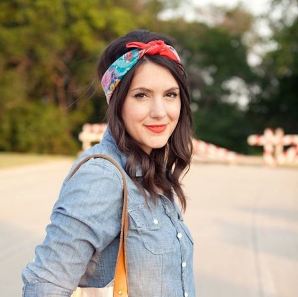 10 Ways to Add a Scarf to Your Spring Hairstyle