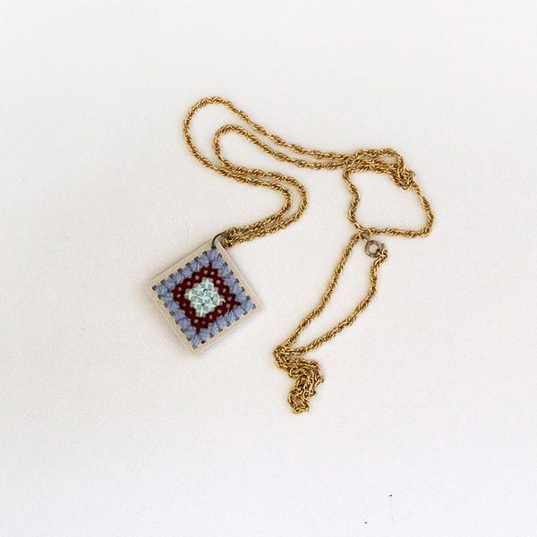 3D Print and Cross Stitch This Old-School-Meets-New-Tech Necklace