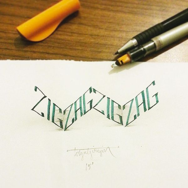 This 3D Calligraphy Will Blow Your Mind