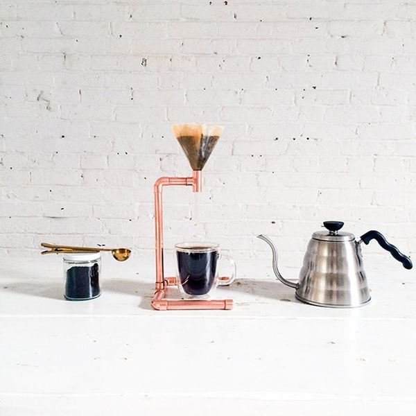 How to Make a Pour Over Coffee Maker Out of Copper Pipe