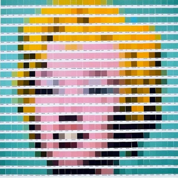 See Famous Works of Art Recreated With Pantone Color Swatches