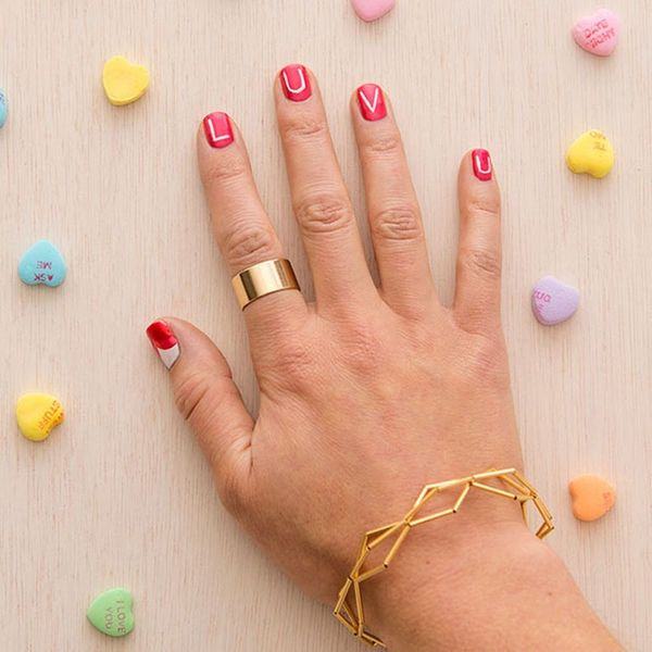 This DIY Valentine's Manicure Works Whether You're Swiping Right OR Left