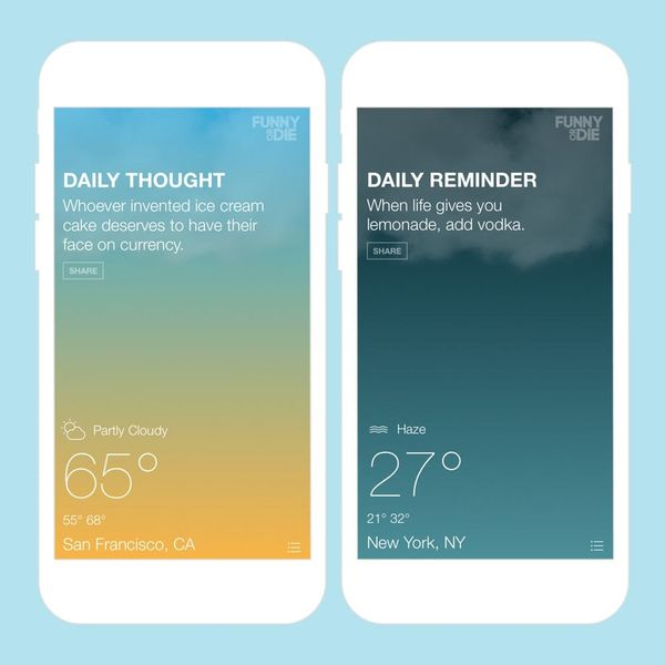 Funny or Die Made a Hilarious Weather App You Need to DL Now
