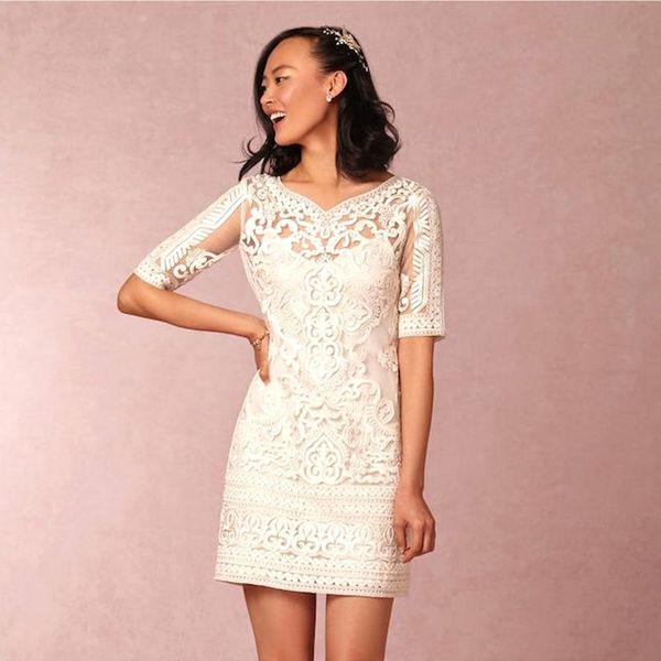 20 Non-Traditional Tea-Length Wedding Dresses