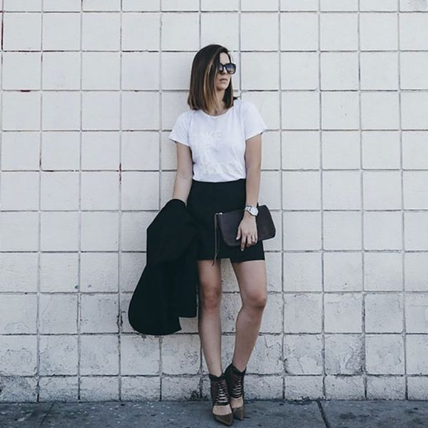 7 #OOTDs for the Week: How Style Bloggers Make a T-Shirt Look Chic