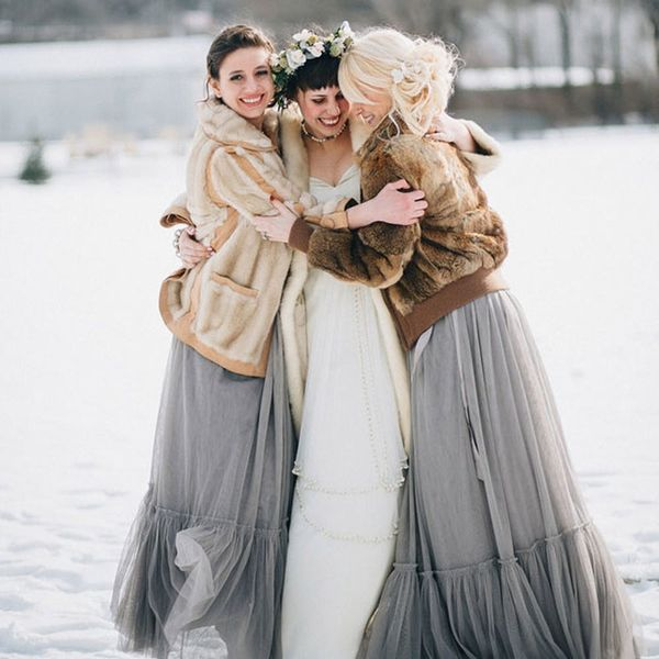 10 Bridesmaid Styles Perfect for a Winter Wedding