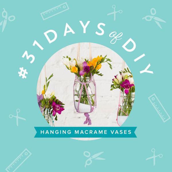Make These Boho Chic Hanging Macrame Vases