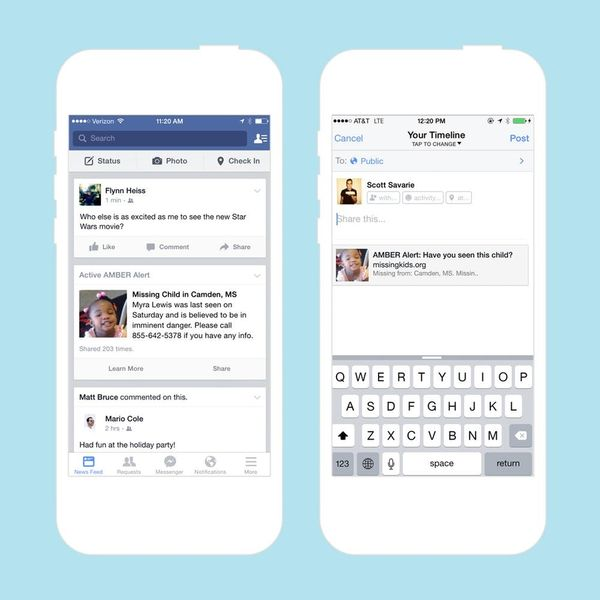 Facebook Is Adding AMBER Alerts to Your Newsfeed