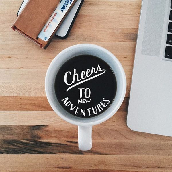 Get Back to the Grind With Coffee + Typography Art