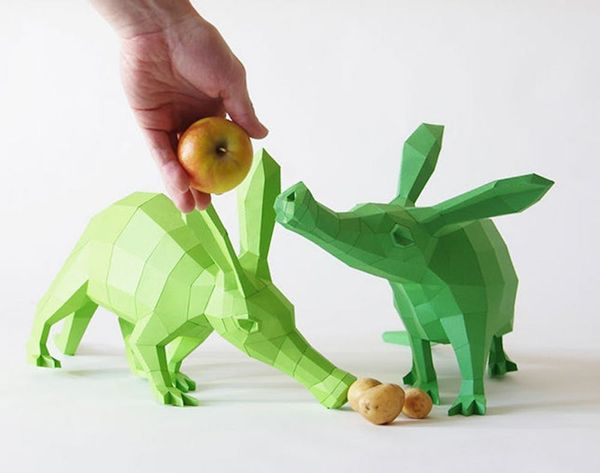 Paper Animal Sculptures: Almost as Cute as the Real Thing