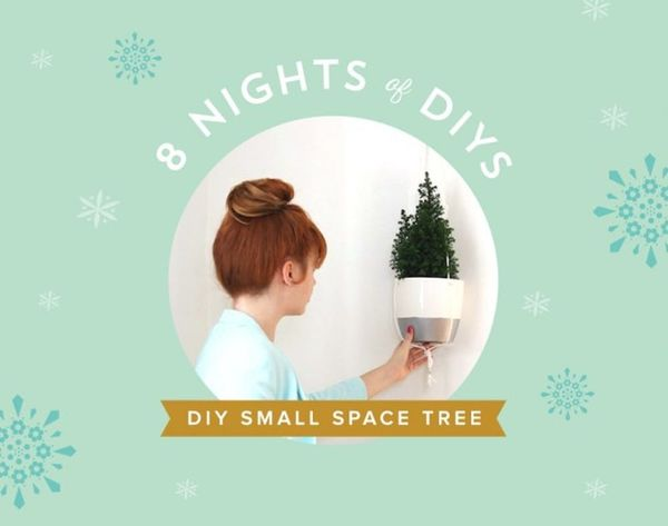 8 Nights of DIYs: A Hanging Xmas Tree Fit for Your Small Space