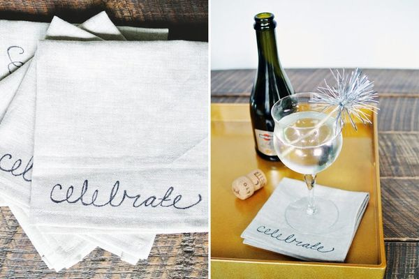 DIY Basics: Hand-Lettered Cocktail Napkins