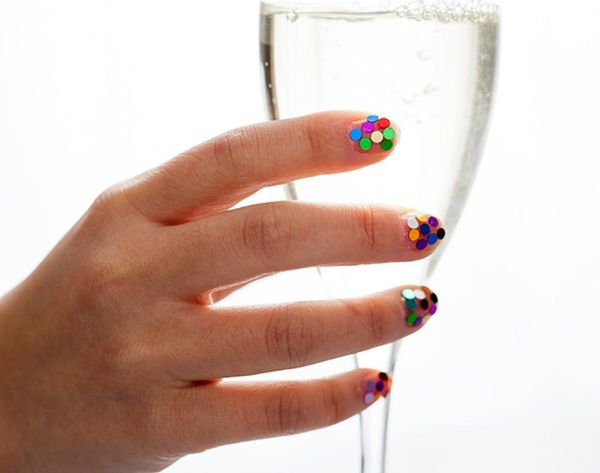 Introducing the Ultimate New Year's Eve Mani: Confetti Nail Art