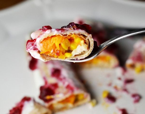 Turn Your Turkey Day Leftovers into This Sweet + Savory Enchiladas Recipe