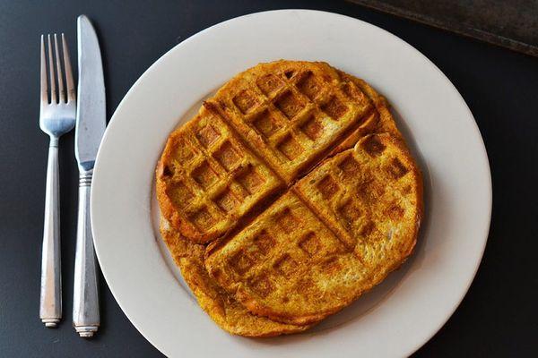 3 Treats In One: Pumpkin French Toast Waffles