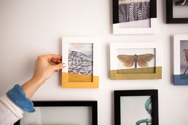"""Color Block Your Wall Art by """"Dipping"""" Your Photos"""