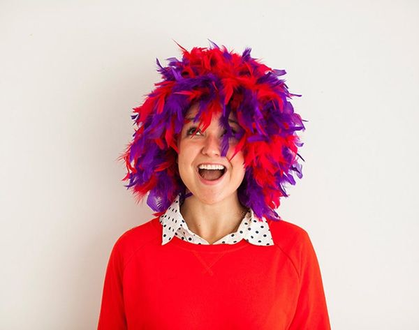 Totally Wigging Out! How to Turn a Feather Boa into a Wig
