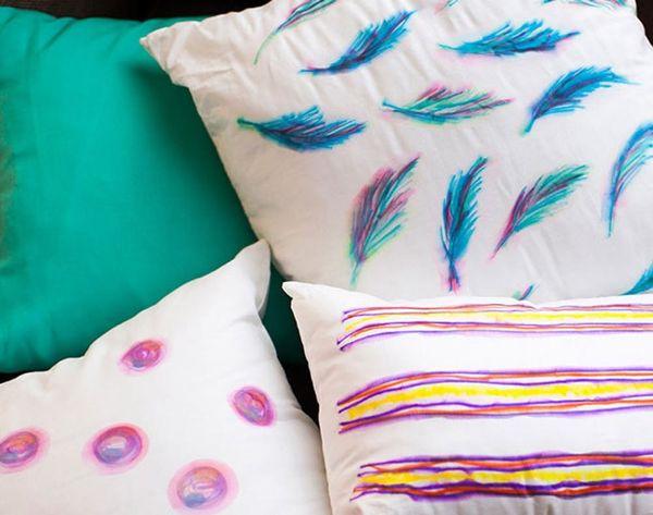 DIY Basics: Watercolor-Inspired Throw Pillows