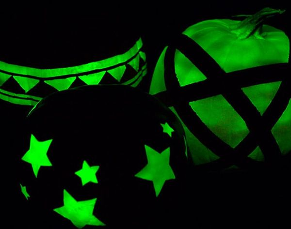 Go for the Glow: No-Carve Glow-in-the-Dark Pumpkins
