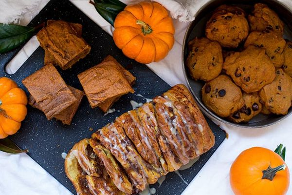 The Pumpkin Recipe Trifecta: Chai Blondies, Chocolate Chip Cookies, and Pull-Apart Bread