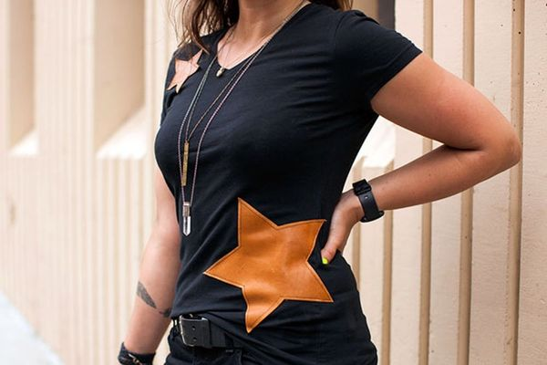 5-Star Project: A Bold Leather Embellished Tee