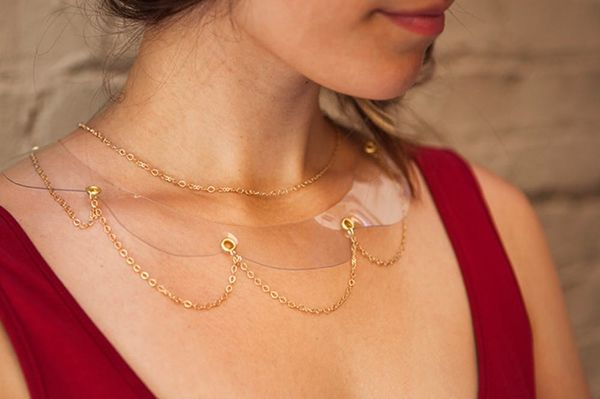 These DIY Clear Collar Necklaces Are Sheer Genius