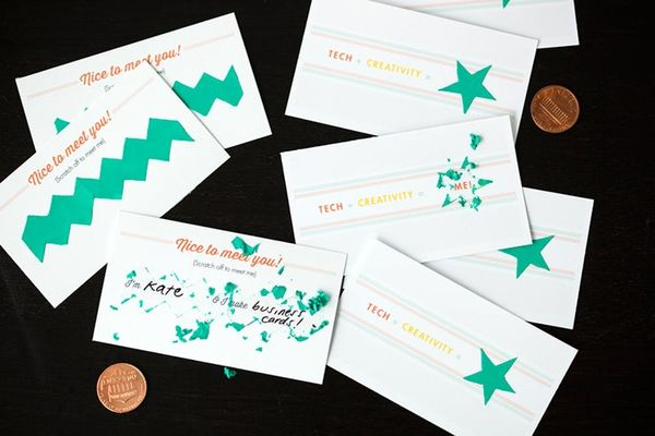 How to Make Scratch-Off Business Cards (+ Free Printables!)