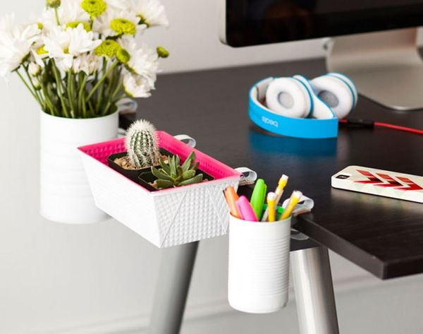 Major Space Saver Alert! DIY Clip-On Desk Organizers