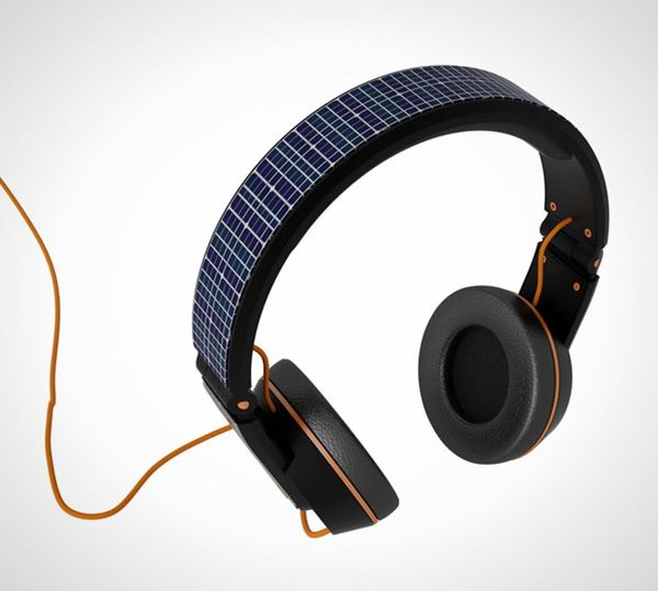 Solar Powered Headphones Charge Your Smartphone While You Rock Out