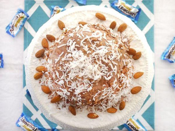 Sometimes You Feel Like a Nut: Almond Joy Ice Cream Bombe