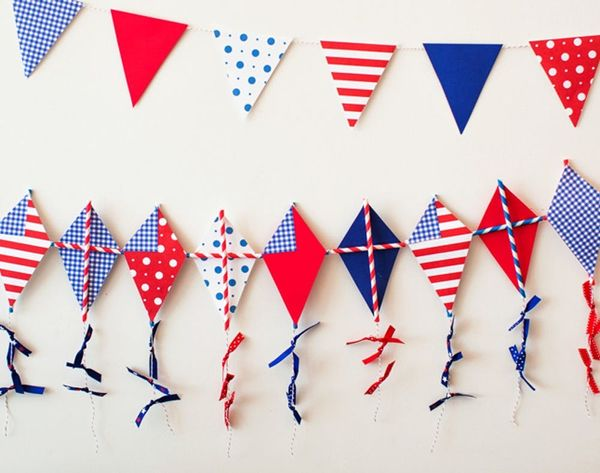 How to Make a Festive 4th of July Kite Garland