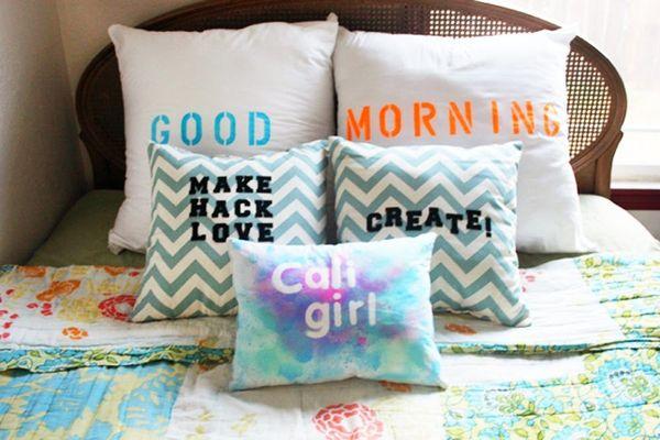DIY Basics: 3 Easy Ways to Add Type to Pillows