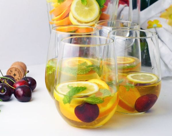 Cheers to Sparkling Cherry Sangria!