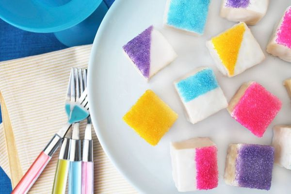 Make Easy Color Blocked Petit Fours With Only 5 Ingredients!