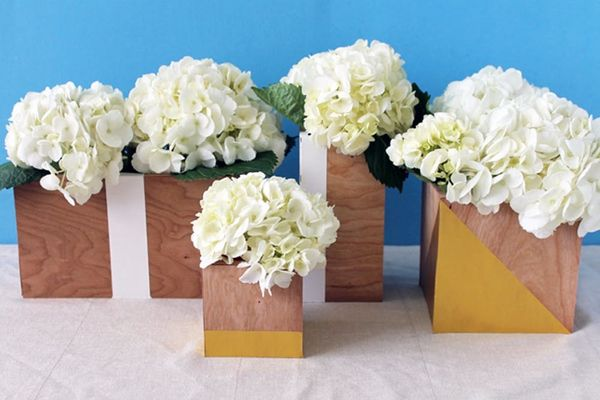 An Easy Way to Make Modern Wood Vases