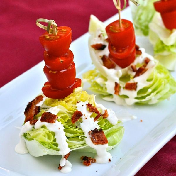 Mini Bacon and Blue Cheese Wedge Salads