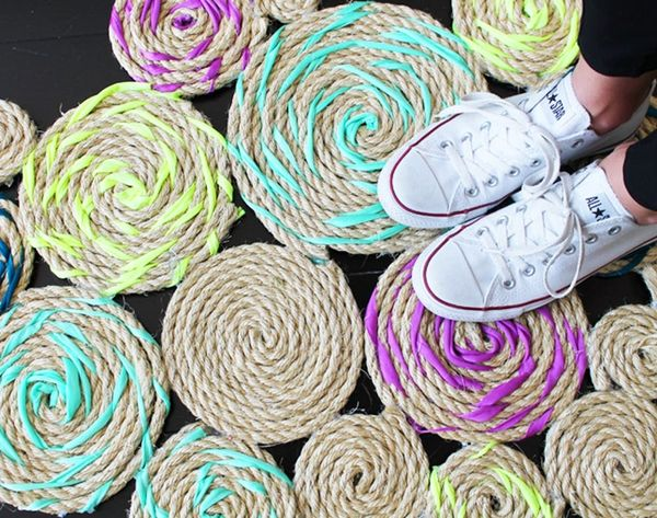 How to Make a Twisted Rope Rug