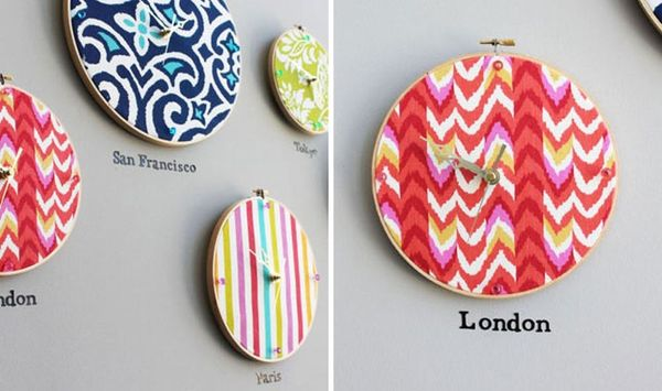 Hoop, There It Is! How to Turn an Embroidery Hoop into a Clock