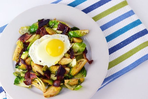 Put an Egg On It: Brussels Sprouts and Bacon Edition