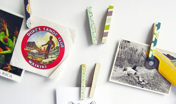 Style Up Your Fridge with Cute Magnetic Clothespins