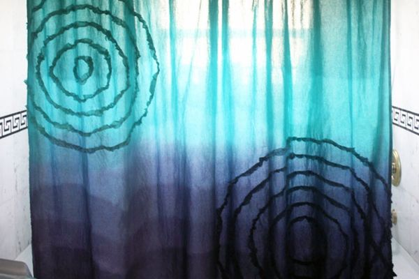 How to Make a Dip Dyed Ombre Shower Curtain