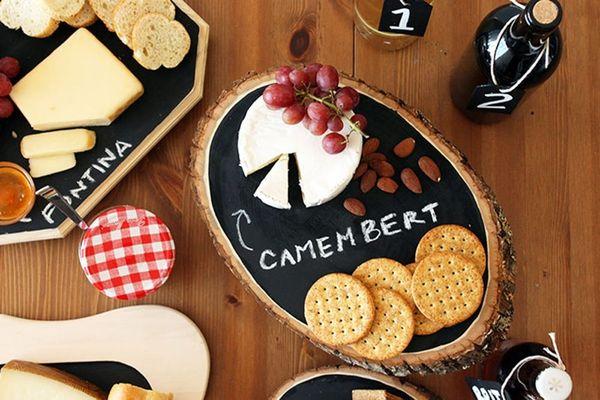 DIY Basics: Chalkboard Cheese Trays