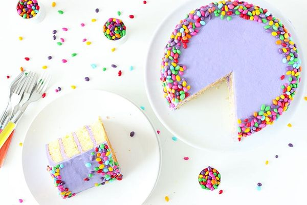 Grab a Slice of Our Lemon Lavender Champagne Cake