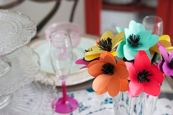Make Pretty Paper Flowers in Under 10 Minutes