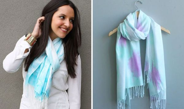 How to Create Gorgeous Patterned Scarves in 15 Minutes