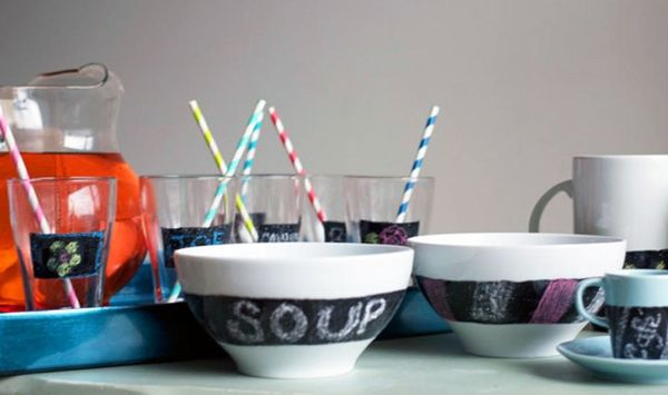 DIY Basics: Customize Your Dishes with Chalkboard Paint